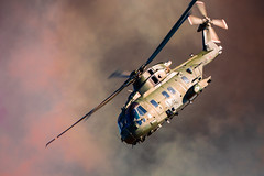 Yeovilton airday UK (Bert de Bruin) Tags: helicopter fire smoke army light canon color show airschow