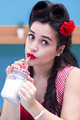 Marylin (Romane Jacquin Photographie) Tags: pinup vintage pink woman eyes light look lifestyle paris portrait photography pentax photoshoot photograph