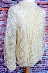 Mohairstyle aran wool jumper (Mytwist) Tags: donegal ireland fisherman timeless classic vintage cream ivory mytwist itchie cabled chunky dublin passion style fashion unisex weddinggift love weekend casual knitted wool viking jumper hate unwanted cable aran knit mohair