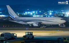 Private -  Boeing 767-277 - N767MW - Aberdeen Airport (paulstevenchalmers) Tags: abz aberdeen private b767 767 boeing aberdeenairport aircraft avaition longexporures longexposure abzairport