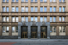 Hutnická fakulta VŠB (Maciej Dusiciel) Tags: architecture architectural city urban travel ostrava czech europe world sony alpha socialist realism facade samyang