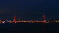 Willemsbrug LED (R. Engelsman) Tags: willemsbrug brug bridge red led light nightphotography rotterdam 010 netherlands nederland nl city night holland