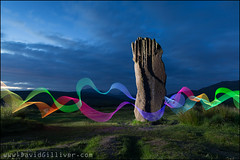 Neon dance (Pikebubbles) Tags: davidgilliver davidgilliverphotography lightpainting lightjunkies nightography nightphotography night canon longexposure lightgraffiti arran scotland visitscotland machriemoor standingstones