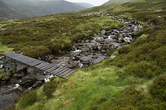 Rickety Bridge (steve_whitmarsh) Tags: aberdeenshire scotland scottishhighlands mountain hills moor highlands stream burn bridge rocks topic abigfave