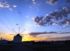 Historic windmill at Castro Verde Portugal 2018 (Gord McKenna) Tags: gordmckenna gord mckenna castro verde portugal windmill crepuscular god light sunset bgc lundin