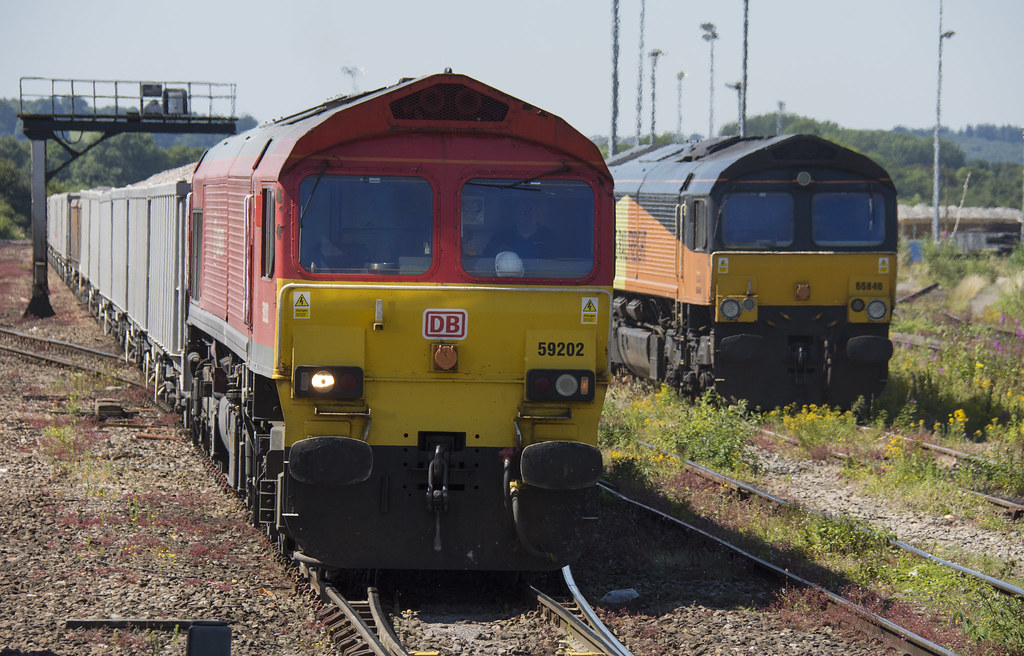 59202 (Lucas31 Transport Photography) Tags: trains railway class59 59202  westbury db
