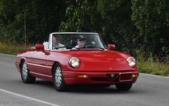 1994 Alfa Romeo Spider Veloce CE (Custom_Cab) Tags: 1994 alfa romeo alfaromeo spider spyder veloce ce red car convertible 1993 1990 1991 1992 series 4 series4 generation 4th commemorative edition commemorativeedition sports