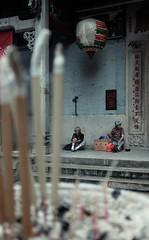 Tin Hau Temple. (Matthias Dengler || www.snapshopped.com) Tags: twowomensitinfrontoftheentrancetothetinhautempleincausewaybay hongkong women woman entrance tin hau temple causeway bay hong kong china urban religion documentary matthias dengler snapshopped