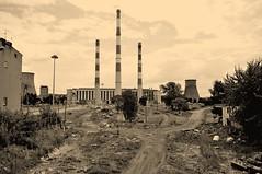 end power (rafasmm) Tags: łódź lodz poland polska europe 1958 heat power plant heating old engineering revitalization demolition developed city change end explore urban nikon d90 sigma 1020 ex sepia digital history