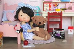 Good morning everybody! (Passion for Blythe) Tags: irrealdoll irrealdollery bjd ery morning teddybear bedroom