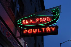 University Seafood & Poultry (joseph a) Tags: udistrict universitydistrict seattle washington washingtonstate sign neonsign