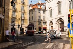 Daily life scene - Lisbon (.sl.) Tags: lisbonne portugal streetphotography tramway lisbon lisboa street people tram streetcar pedestrean