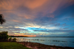 Myakka Lake Sunset (ap0013) Tags: myakkalake sunset sun water myakkariver statepark sarasotaflorida fl fla florida sarasota reflection nature landscape