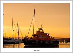 Sunset Lifeboat (flatfoot471) Tags: 2016 boats brixham devon dusk england holiday july lifeboat marina normal rnlbalecchristinadykes1728 summer sunset twilight unitedkingdom gbr