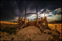 gladiators' training arena, Carnuntum (TheOtherPerspective78) Tags: arena amphitheater amphitheatre carnuntum ludus gladiator gladiators training landscape landschaft historic history ancientrome rome countryside outdoors wideangle fisheye fisheyehemi 7artisans wood wooden structure sky clouds cloudscape himmel wolken evening summer summertime fields abend felder sommer gladiatoren uwa uww theotherperspective78 canon eosm6