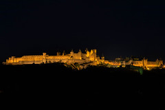 Carcassonne at Night (mclcbooks) Tags: carassonne france night nuit cityscape landscape castle walls