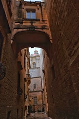 Malta Streets (Douguerreotype) Tags: bridge arch cathedral church buildings city window malta architecture urban