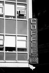 New York Coffee (Thomas Hawk) Tags: coffeeshop coffeeshopbar manhattan nyc newyork newyorkcity usa unitedstates unitedstatesofamerica bw neon