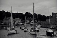 Sails at rest....Kirkcaldy Harbor (bobglennan) Tags: nikond750 nikkor nikon kirkcaldy scotland harbor sailboats monochrome philadelphiaphotographer photography moody