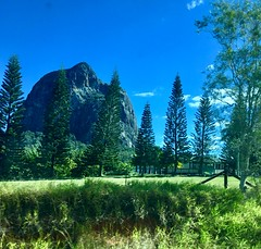 """Glasshouse mountains Queensland. This is an old volcanic plug. (denisbin) Tags: glasshouse """"glasshouse mountains """" """"volcanic plug"""" volcanic train """"tili train"""" """"tilt"""