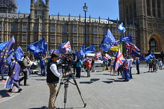 Capturing the protest (afagen) Tags: london england uk unitedkingdom greatbritain westminster palaceofwestminster housesofparliament parliament protest brexit news