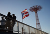Flag (dtanist) Tags: nyc newyork newyorkcity new york city sony a7 konica hexanon 40mm brooklyn coney island boardwalk steeplechase pier puerto rico rican flag parachute jump tower