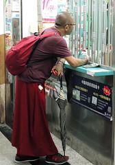 Monk (markb120) Tags: man person human individual humanbeing fellow male monk friar monastic religious conventual cloisterer backpack rucksack knapsack haversack packsack