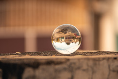 Middle Clarity (AllanAnovaPhotos) Tags: crystal ball healing transparent bokeh vivitar zoom sony a6500