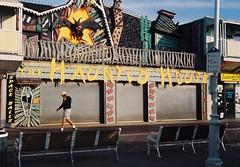 Haunted House (poavsek) Tags: kodak medalist ektar film boardwalk park amusement maryland seashore coast rides vacation family scary beach