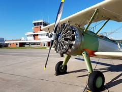 History (Two8five) Tags: boeing pt17 stearman yam cyam sault ste marie airport aeroplane biplane radialengine opencockpit