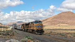 Making Time in the Dessert (lennycarl08) Tags: unionpacific unionpacificrailroad up trains nevadasub nevada up5271 geac45ccte locomotive