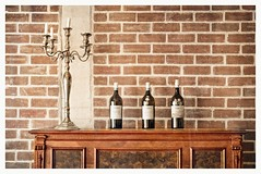 Vintage (Daniela 59) Tags: wall wednesdaywalls stilllife piano candelabrum candles bottles antique vintage brown restaurant lambertsbay southafrica danielaruppel