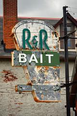 R&R Bait (brown_theo) Tags: bait shop rr randr columbus ohio front street german village paint peel old vintage