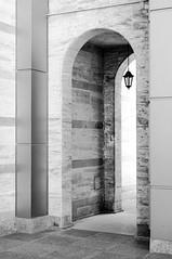Welcome To Sofia! (TablinumCarlson) Tags: sofia bulgarien bulgaria durchgang eingang entry gate door laterne sw bw black white leica summicron m240 m vitosha vitoshamountain 50mm leicam softfocus highkey high key