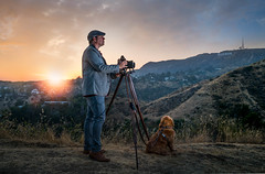 Serge Griffith Park (photoserge.com) Tags: hollywood sunset light glare dog portrait self hills los angeles