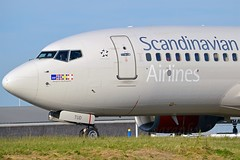 """Margrete Skulesdatter"" SAS Scandinavian Airline System LN-TUD Boeing 737-705 cn/28217-142 Wfu 01-11-2017 std at DGX 16-11-2017 Broken up 01-2018 at DGX @ Taxiway Q EHAM / AMS 06-06-2016 (Nabil Molinari Photography) Tags: margreteskulesdatter sas scandinavian airline system lntud boeing 737705 cn28217142 wfu 01112017 std dgx 16112017 broken up 012018 taxiway q eham ams 06062016"