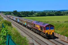 "66096 Bredicote, Worcestershire { 1300 Burton Ot W Yd Maurice ~ Cardiff Tidal } 220618 S Widdowson (3) (50008""thunderer"") Tags: 66096 class 66"