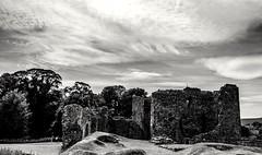 Hailes Castle...xx (shona.2) Tags: ancient cloudy moody blackandwhite mono abandoned maryqueenofscots 1280 historicscotland eastlinton eastlothian hailes castle 13thcentury scotland ruins