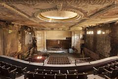 worst seats. (stevenbley) Tags: urbanexploration urbanexploring urbex urban historic movietheater theater theatre newyork york ny canon5dmarkii 5dmk2 seats curtains riots city mold rust mildew history decay