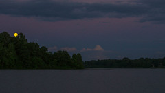 Strawberry Moon 2018 (+Lonnie & Lou+) Tags: night moon dark ohio travel usa sony a6000 clouds summer kiser lake water waterscape sky purple longexposure full astrophotography