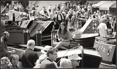 The Gathering (Jason 87030) Tags: boats star crowds gathered gather gathering people man beard poeple person busy scene bw bbw blackandwhite noir blanc craft vessel frame border mono uk braunstin narrowboats girl woman hats glasses northamptonshire historic calendar event show england canal decor