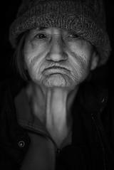 DSC01259 (Damir Govorcin Photography) Tags: blackwhite natural light portrait 81yearold mum mother 85mm batis sony a7rii beanie monochrome