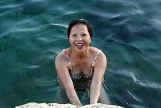 Happy Bather