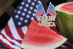 GOD Bless America (Baking is my Zen) Tags: godblessamerica july4th 4thofjuly watermelon independenceday food fruit canonrebelt1i dessert foodphotography depthoffield dof