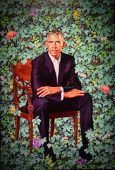 Kehinde Wiley - Barack Obama, 2018 at National Portrait Gallery Washington DC (mbell1975) Tags: washington districtofcolumbia unitedstates us kehinde wiley barack obama 2018 national portrait gallery dc museum museo musée musee muzeum museu musum müze museet finearts fine arts gallerie beauxarts beaux galleria painting president usa america american potus presidential