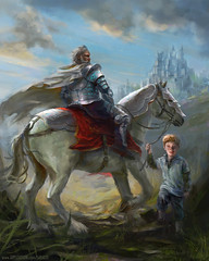 Liam (Sarasti) Tags: adventure armor armored armour armoured bearded boy castle character child cloak crusader defender digital dnd fantasy farmboy father fighter grandfather grandson hero holy horse horseback illustration journey kingdom knight landscape mounted mtg paladin pathfinder platemail protector quest realistic rider rpg runed runes son stallion steed summer travel warhorse warrior whitehorse whiteknight young old art orphan