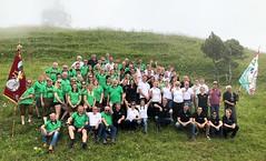 2018-07-08 Schweiz Walchwil am Zugersee - Hainfeld Stadtkapelle Berg Gruppenfoto