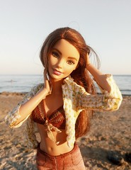 Salty wind in her hair... (ArtCat80) Tags: barbie bambi mtm madetomove yoga teresa summer sea seaside beach mattel
