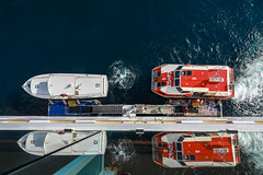 Loading the Tenders (Jill Clardy) Tags: 2018 cruise ncl norwegiancruiselines repositioning 201804239l8a3909 tender boat lifeboat cabo san lucas mexico local ship floating dock excursion port