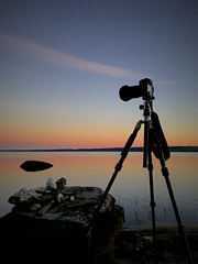 Ready to shoot (Janne Räkköläinen) Tags: summer sunset colours colorful nature naturelovers landscape sky bluesky redsky finland suomi summernights night evening canon canoncamera 6d tripod lake lakesaimaa northkarelia iphone iphone7 ready shot longexposure amateur amateurphotography amateurphotographing liperi pohjoiskarjala summerhouse cottage onholiday relax freetime calmwater 2018 july art artistic